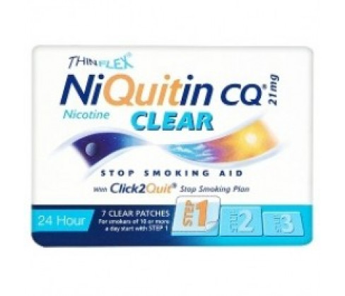Niquitin CQ Clear Patch Step1 21mg