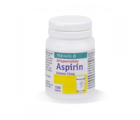 Aspirin Dispersible 75mg Tablets (BLISTER not POTS)