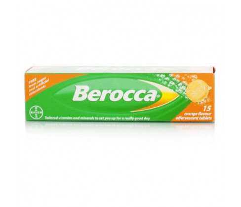 Berocca Effervescent Tablets 15's Orange Flavour