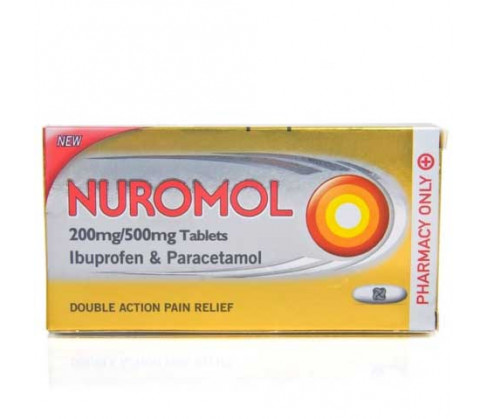 Nuromol 200mg/500mg 12 Tablets