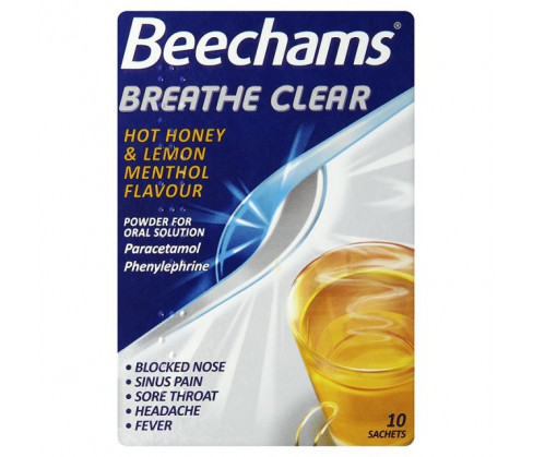 Beechams Breathe Clear Hot Honey & Lemon