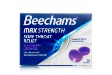 Beechams Max Strength Blackberry Sore Throat Relief Lozenges