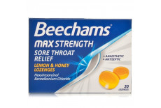 Beechams Max Strength Lemon + Honey Sore Throat Relief Lozenges
