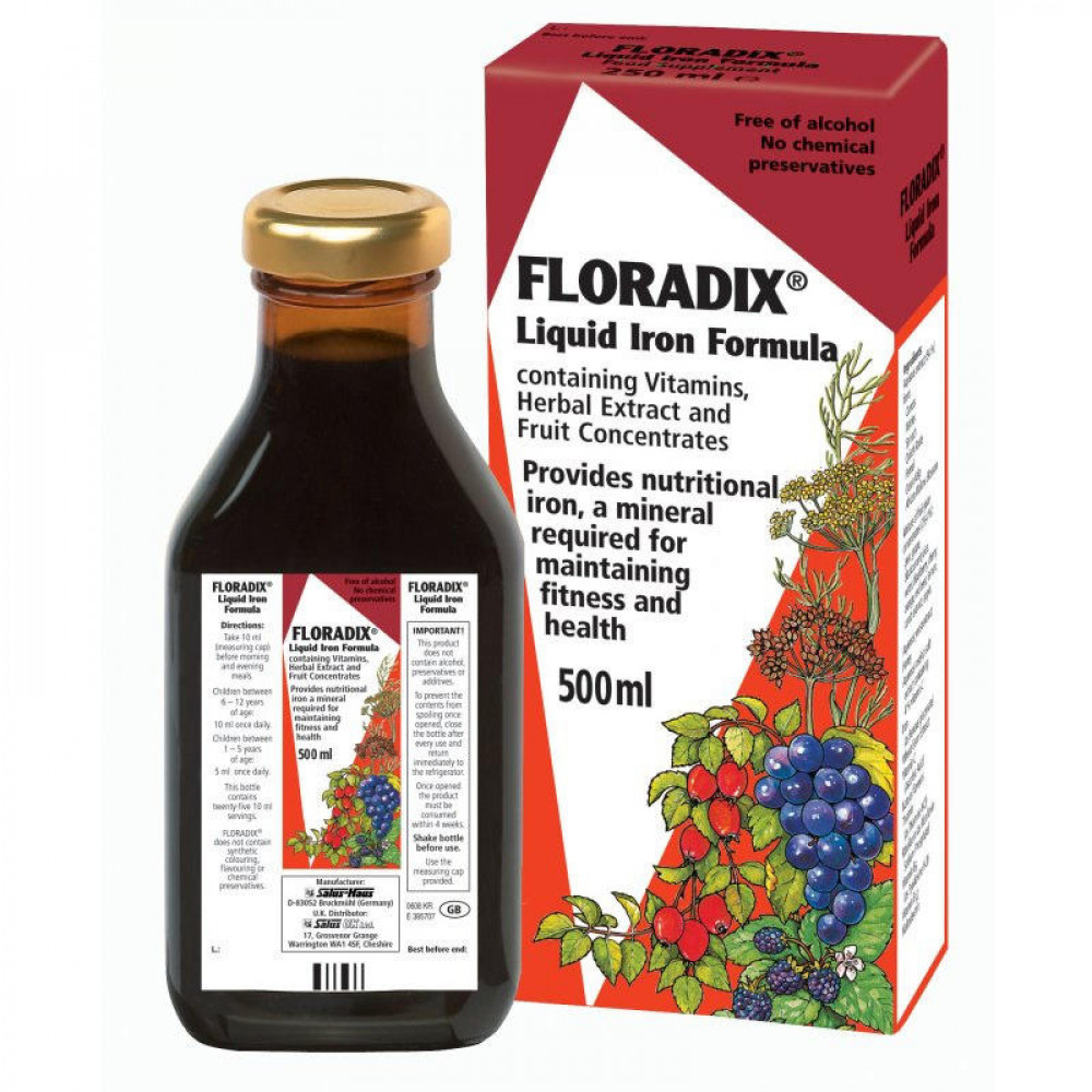 How to take floradix liquid iron