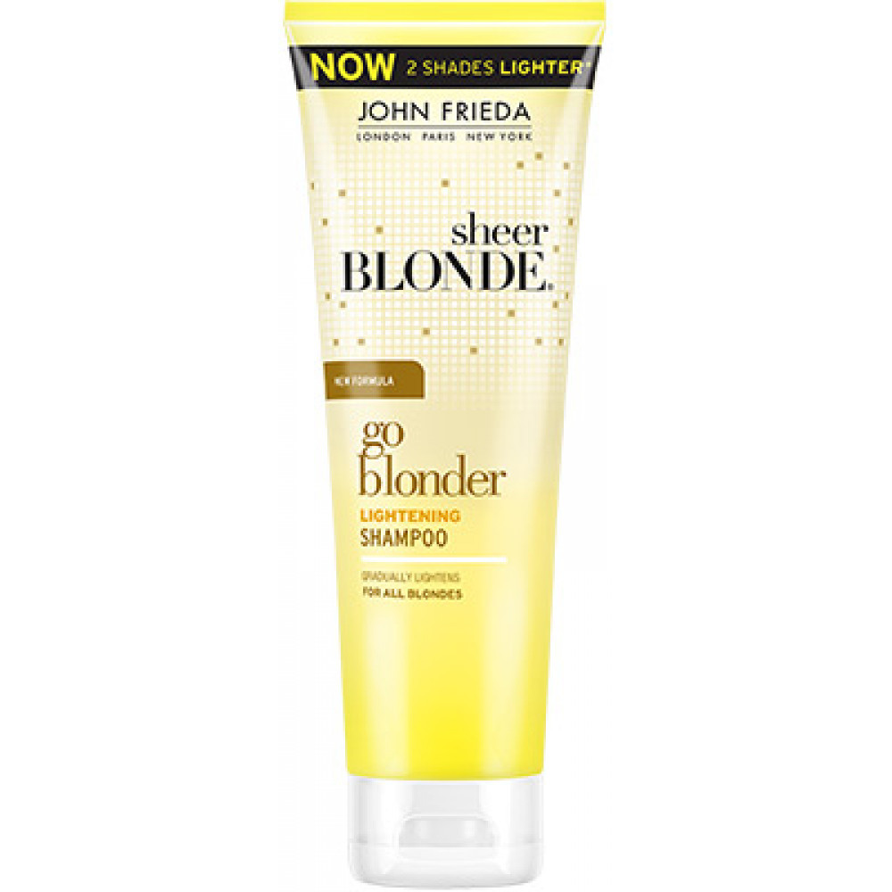 buy john frieda sheer blonde go blonder lightening shampoo 250ml. Black Bedroom Furniture Sets. Home Design Ideas