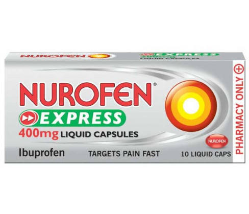 Nurofen Express 200mg 10 Liquid Capsules