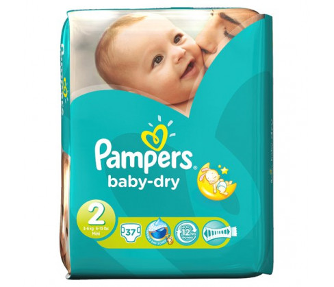 Pampers Baby Dry Carry Pack Unisex Size 2 (Mini)