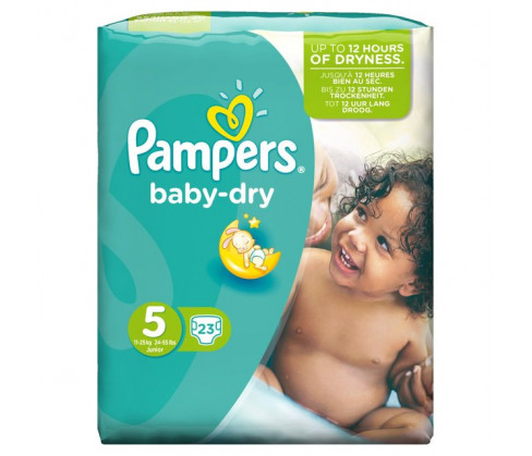 Pampers Baby Dry Carry Pack Unisex Size 5 (Junior)
