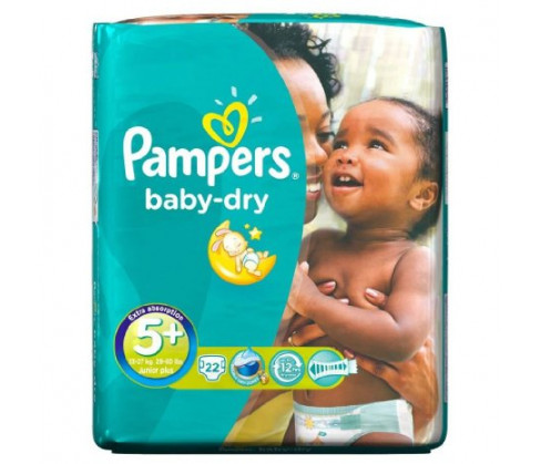 Pampers Baby Dry Carry Pack Unisex Size 5+ (Junior Plus)