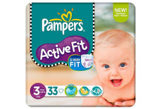 Pampers Progress Active Fit Carry Pack Unisex Size 3 (Midi)
