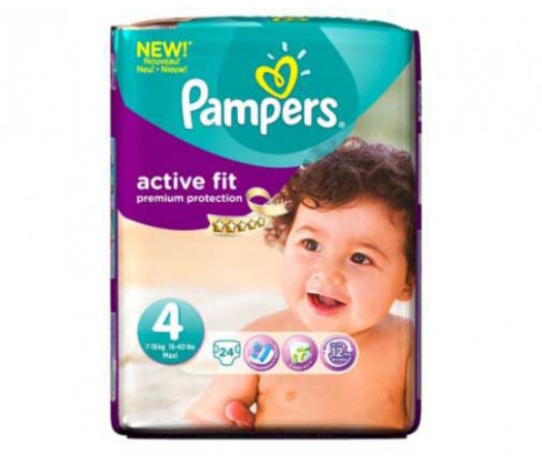 Pampers Progress Active Fit Carry Pack Unisex Size 4 (Maxi)
