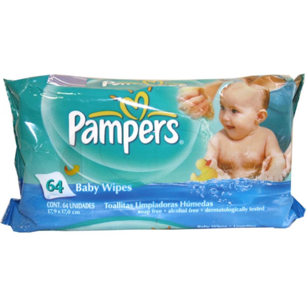 Buy Pampers Regular Baby Wipes 64 Wipes