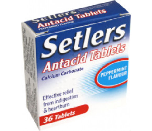 Setlers Antacid Peppermint Flavour Tablets