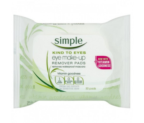 Simple Conditioning Eye Makeup Remover Pad